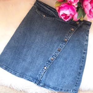 The Fifth Label denim snap high waist jean skirt